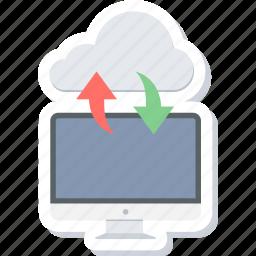 cloud, computer, computing, download, import, storage, upload icon