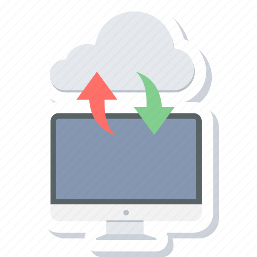 cloud, computer, computing, download, import, storage, upload icon