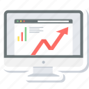 analysis, chart, graph, progress, report, statistics, web icon