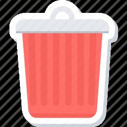 bin, delete, recycle, remove, trash icon