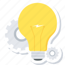 bulb, creative, design, idea, light icon