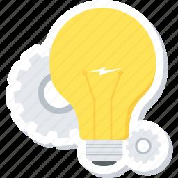 bulb, creative, design, idea, light icon