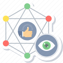 connection, likes, watch list icon