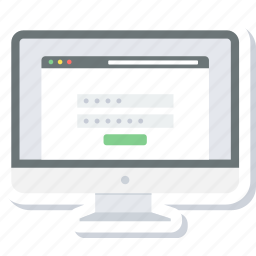 details, login, page, password, user id icon