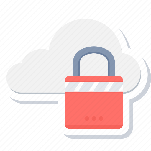 cloud, lock, protection, safety, security, shield icon