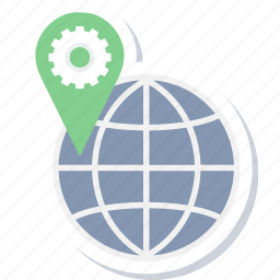 direction, gps, location, map, navigation, seo, web icon