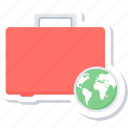 marketing, package, seo, suitcase icon