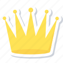success, achievement, crown, prince icon