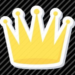 achievement, crown, prince, success icon