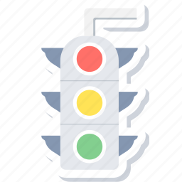 light, sign, signal, traffic icon