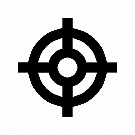 Aim, crosshair, focus, goal, target icon - Download on Iconfinder