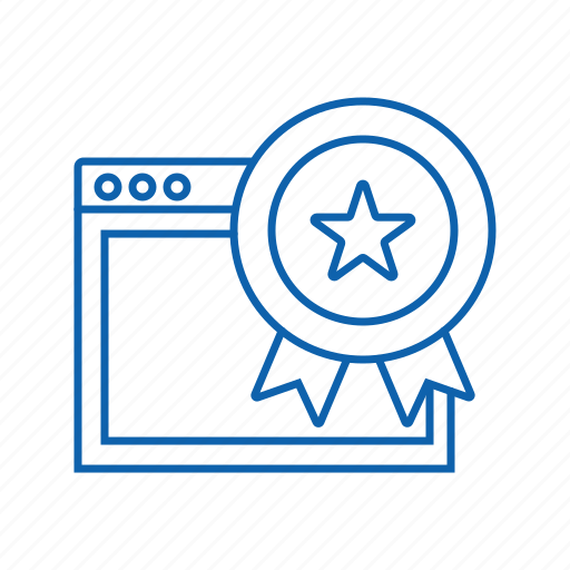 award, optimization, seo, web icon