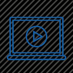 optimization, play, screen, seo, web icon