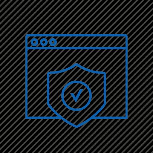 optimization, protect, seo, web icon