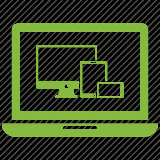 computer, display, laptop, monitor, pc icon
