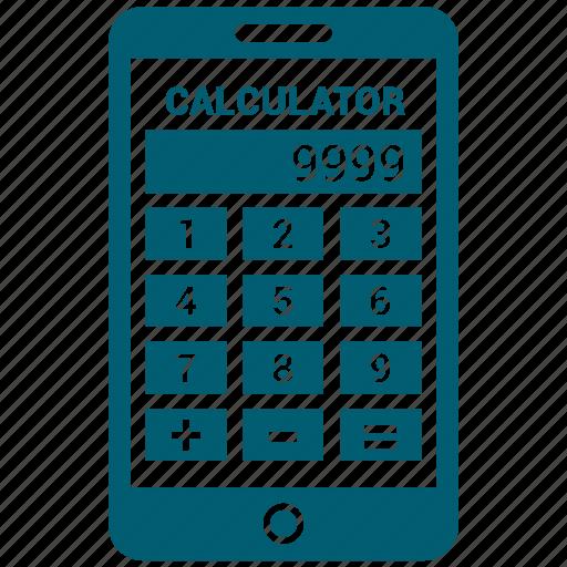 calculate, calculation, calculator, math, mobile icon