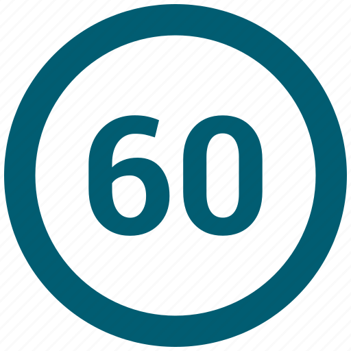 circle, number, sixty icon