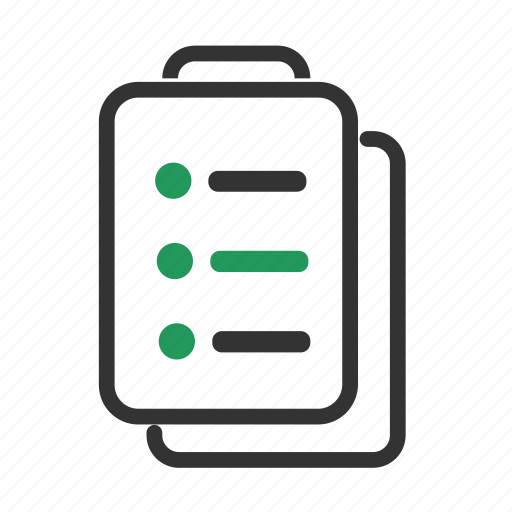 checklist, list, organiser, organizer, record, survey, tasks icon