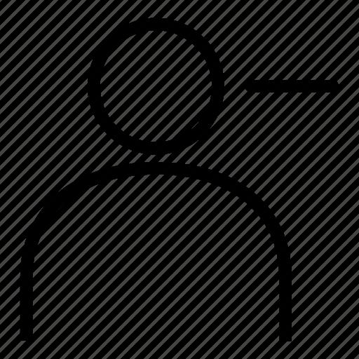 delete, interface, minus, people, person, profiles avatar, user icon