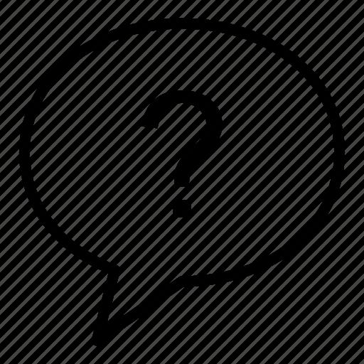 chat bubble, communication, conversation, dialogue, question, talk icon