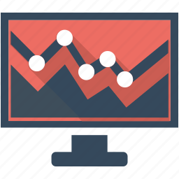 analytics, chart, data, flat icon, report, seo, statistics icon