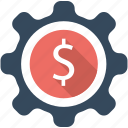 business, dollar, finance, flat icon, management, money, seo icon