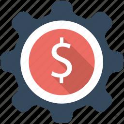 business, dollar, finance, flat icon, management, money, seo icon