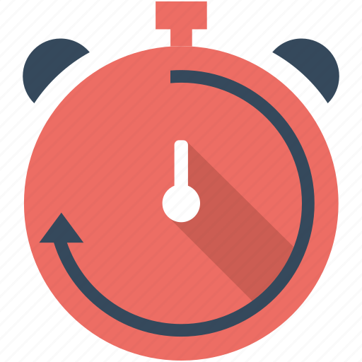 alarm, clock, flat icon, seo, time, timer, watch icon