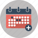 add, calendar, date, day, event, seo, valentine icon