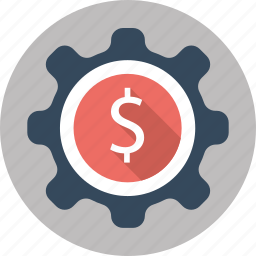 dollar, finance, management, money, payment, seo, settings icon