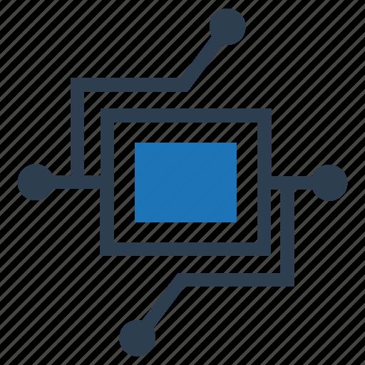 data processing, processor icon