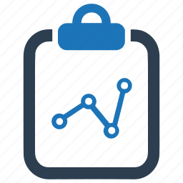 analysis, business growth, financial report icon