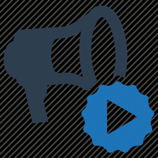 Advertising, marketing, megaphone, video icon - Download on Iconfinder