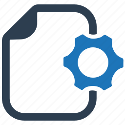 content management, content setting, document, settings icon