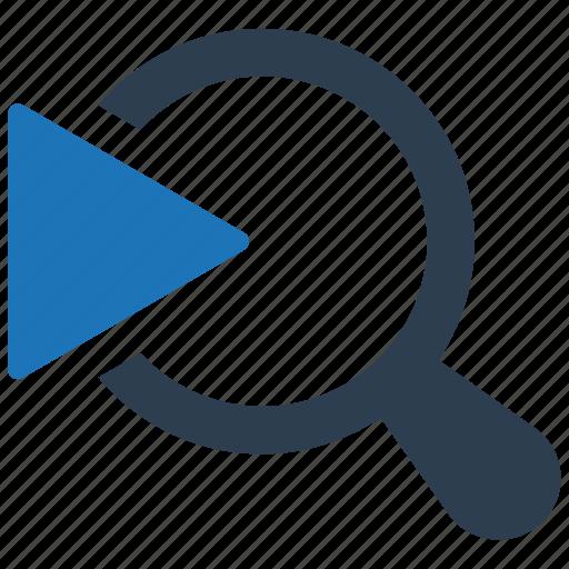 movie, video search icon