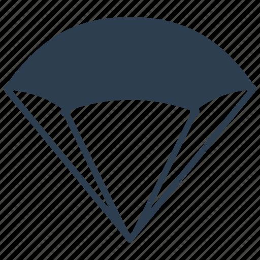 parachute, parasail, sky dive icon