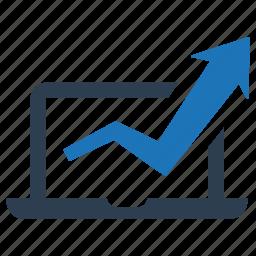marketing research, monitoring, seo analytics icon