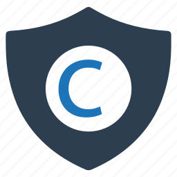 copyright, protection, security icon