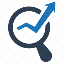 analysis, optimization, search engine, seo monitoring icon