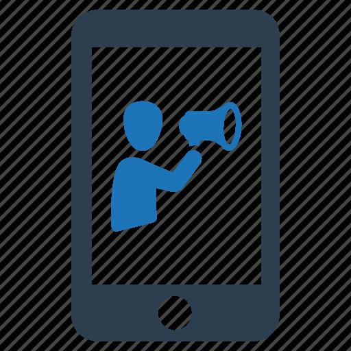 advertising, mobile, mobile marketing icon
