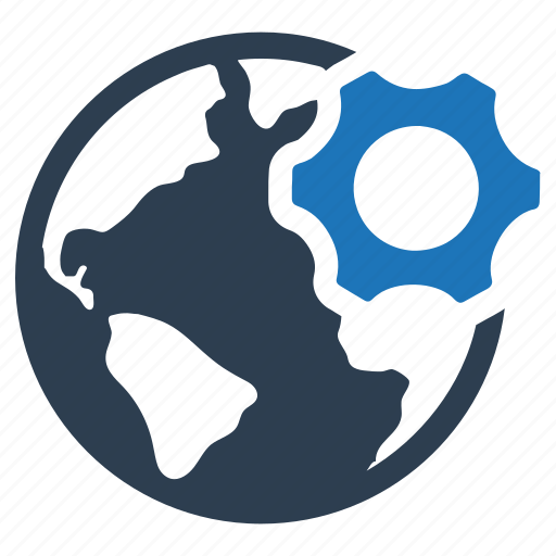 global solution, network, preferences icon