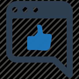 feedback, like, online, website icon