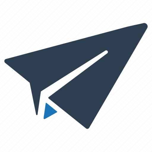mail, message, paper rocket, send icon