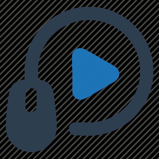marketing, online, video, video advertising icon