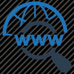 domain, domain search, search engine icon