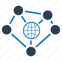 connection, connectivity, global, network icon