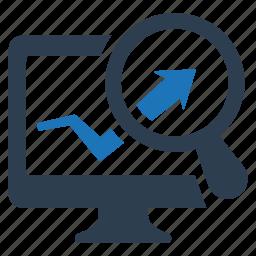 analytics, financial analysis, graph, sales icon