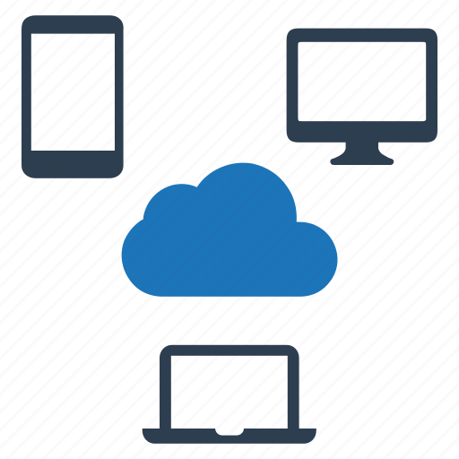 cloud computing, connection, devices, network, share icon