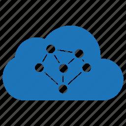 cloud, cloud computing, network, sharing icon