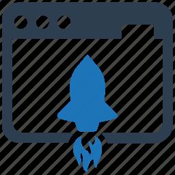 launch, project, startup, web development icon